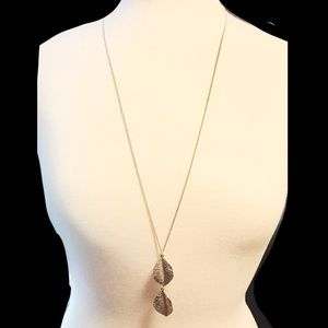 Long Double Leaf Necklace